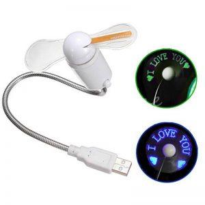 فن USB LED نویسنده با قابلیت برنامه ریزی و نوشتن متن