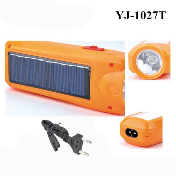 چراغ قوه خورشیدی قابل شارژ دو منظوره YJ-1027T