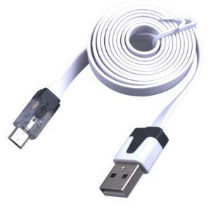 کابل پهن USB-Micro رنگی یک متری