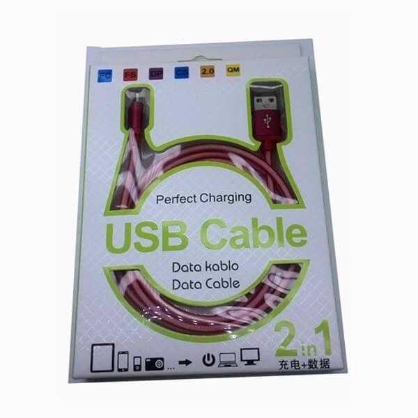 کابل ابریشمیUSB-Micro رنگی یک متری