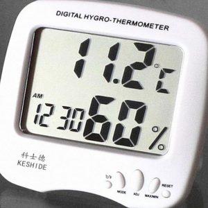 دماسنج و رطوبت سنج و ساعت رومیزی و دیواری مدل HTC-2A
