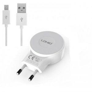 شارژر 5 ولت 2.1 آمپر با دو خروجی USB محصول LDNIO مدل A2269