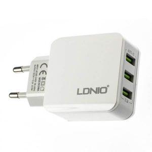 شارژر 5 ولت 3.1 آمپر با 3 خروجی USB محصول LDNIO مدل A3301