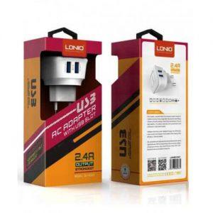 شارژر 5 ولت 2.4 آمپر با دو خروجی USB محصول LDNIO مدل DL-AC63