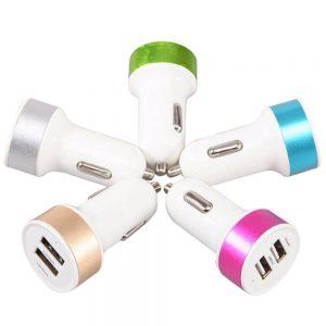 شارژر فندکی با خروجی 2 پورت USB – ولتاژ 5 ولت 1A و 2.1A