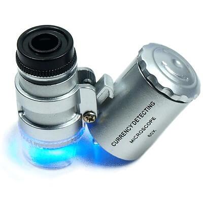ذره بین میکروسکوپی 60x چراغدار