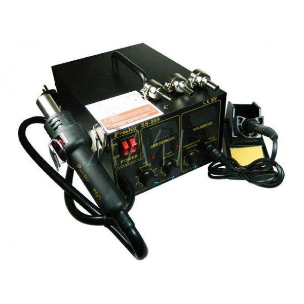 هیتر دو کاره دیجیتال (هویه هوای گرم) مدل PROSKIT SS-989B