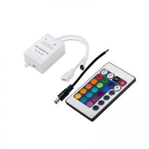 درایور و کنترلر RGB تک خروجی 24Key – 6A – کنترل از راه دور