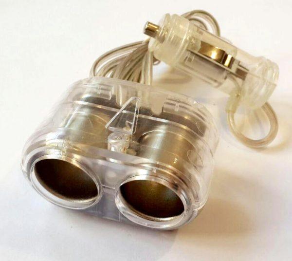 مبدل 1 به 2 شارژر فندکی خودرو