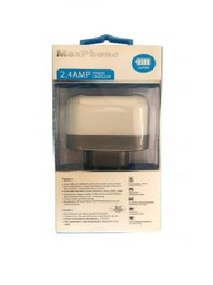 آداپتور 5 ولت 2.4A با دو خروجی USB مارک Maxphone
