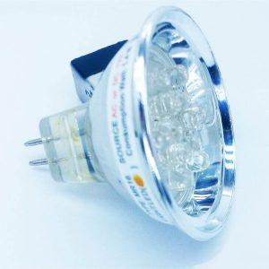 لامپ هالوژنی LED MR16-12 زرد پرتقالی