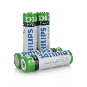 باتری قلمی قابل شارژ فیلیپس MultiLife با ظرفیت 2300mAh