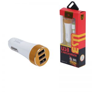 شارژر فندکی Hiska با خروجی 3 پورت USB – ولتاژ ۵ ولت 5.1A