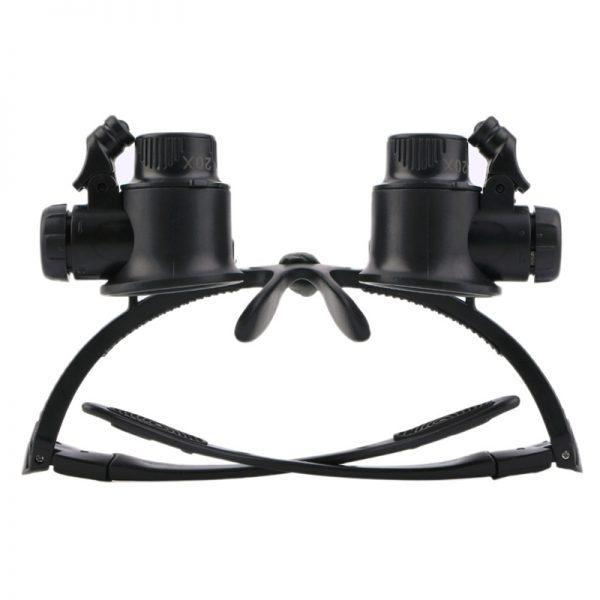 ذره بین عینکی دوچشمی چراغدار 20X مدل 9892G2