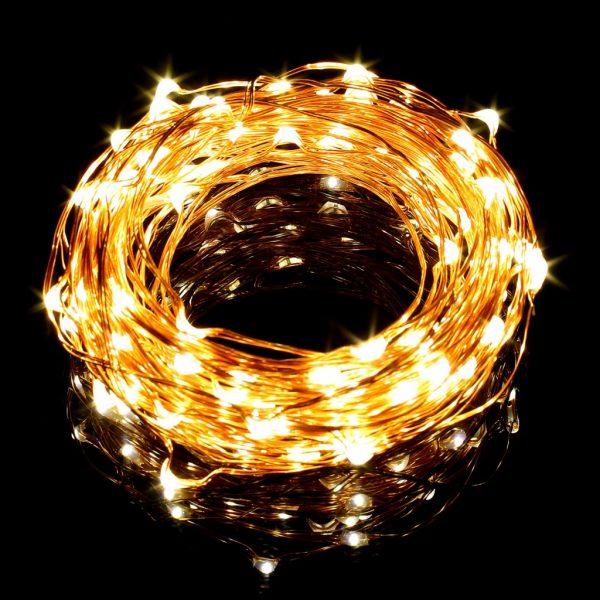 ریسه LED جادوئی-تزئینی 10 متری قابل انعطاف سفید آفتابی