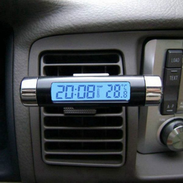 ساعت استوانه ای به همراه دماسنج مخصوص ماشین