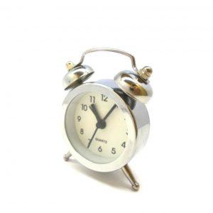ساعت زنگدار فانتزی کوچک بدنه استیل
