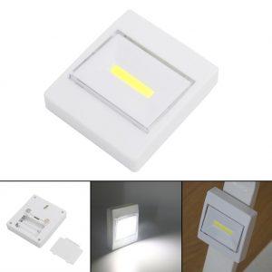 کلید چراغدار COB LED پهن باتری خور اضطراری