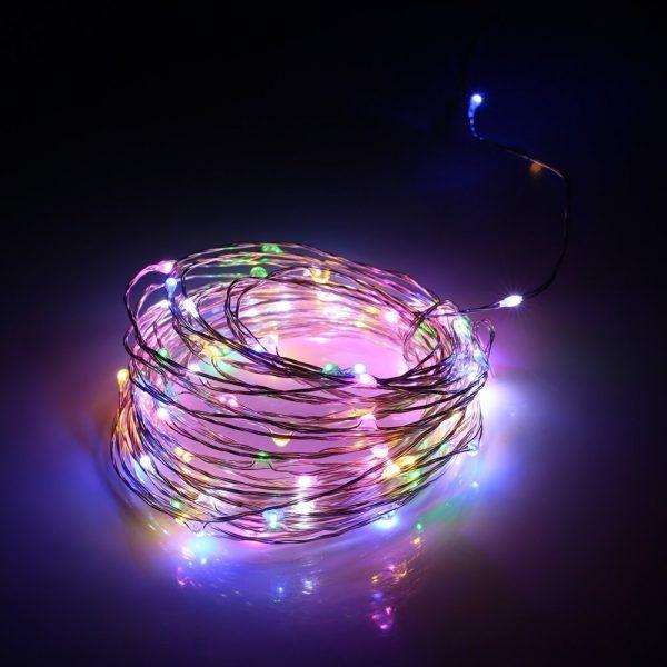 ریسه LED جادوئی-تزئینی 10 متری قابل انعطاف RGB رقص نور