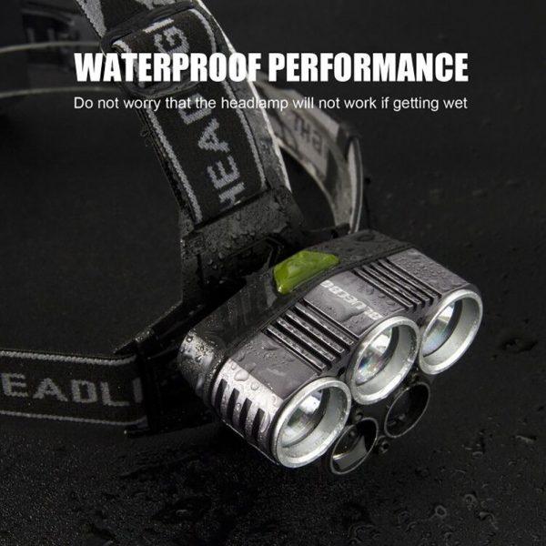چراغ قوه پیشانی - هدلایت شارژی 5 لامپه ضدآب HeadLight مدل T501