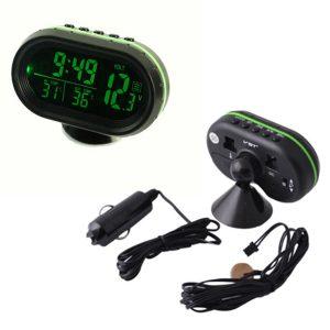 ساعت ، دماسنج دیجیتال چند منظوره خودرو به همراه تستر ولتاژ مدل VST-7009V