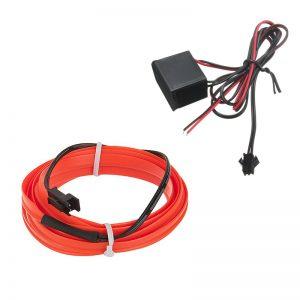 چراغ ال وایر خودرو EL Wire رنگ قرمز 2 متری