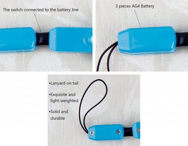 ذره بین کوچک جیبی 5x رنگی دارای LED