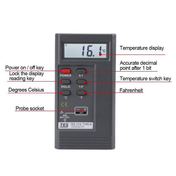 دماسنج ترموکوپل TES-1310