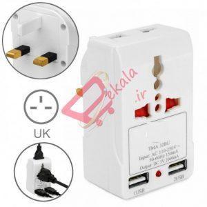 مبدل برق چندکاره نارکن مدل nk-823 به همراه شارژر USB