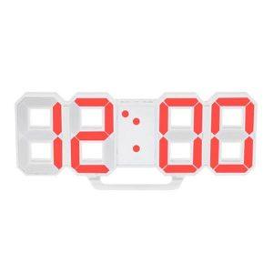 ساعت دیواری و رومیزی سفید و سگمنت قرمز مدل X Segment Clock