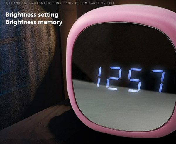 ساعت ودماسنج دیجیتالی رومیزی با نمایشگر آینه ای 0708L