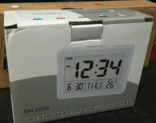 ساعت و دماسنج دیجیتالی به همراه تقویم و نمایشگر رنگی مدل GH-2000