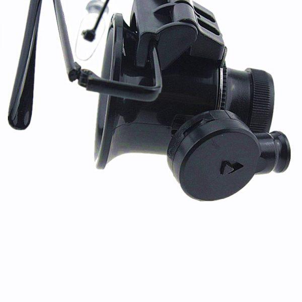 ذره بین عینکی دوچشمی چراغدار 20X بدنه فلزی 9892A