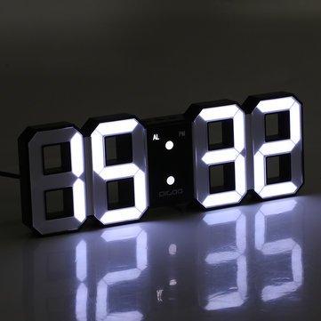 ساعت دیواری و رومیزی بدنه مشکی و سگمنت سفید مدل X Segment Clock