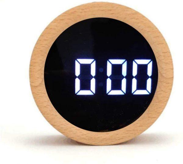 ساعت و دماسنج دیجیتالی رومیزی بامبو گرد