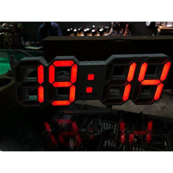 ساعت دیواری و رومیزی مشکی و سگمنت قرمز مدل X Segment Clock