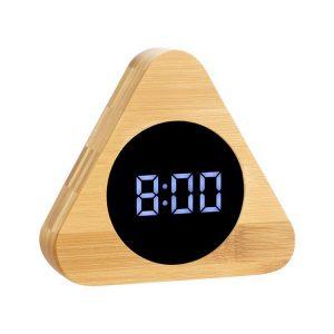 ساعت و دماسنج دیجیتالی رومیزی بامبو مثلثی