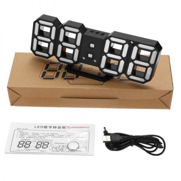 ساعت دیواری و رومیزی مشکی و سگمنت سبز مدل X Segment Clock