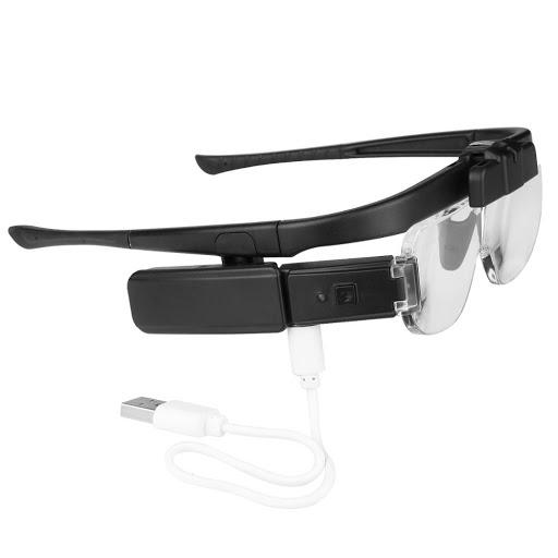 ذره بین عینکی 3 لنز چراغ دار مدل 11642DC