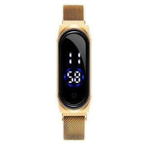 ساعت مچی دیجیتال لمسی بند فلزی مدل mi band